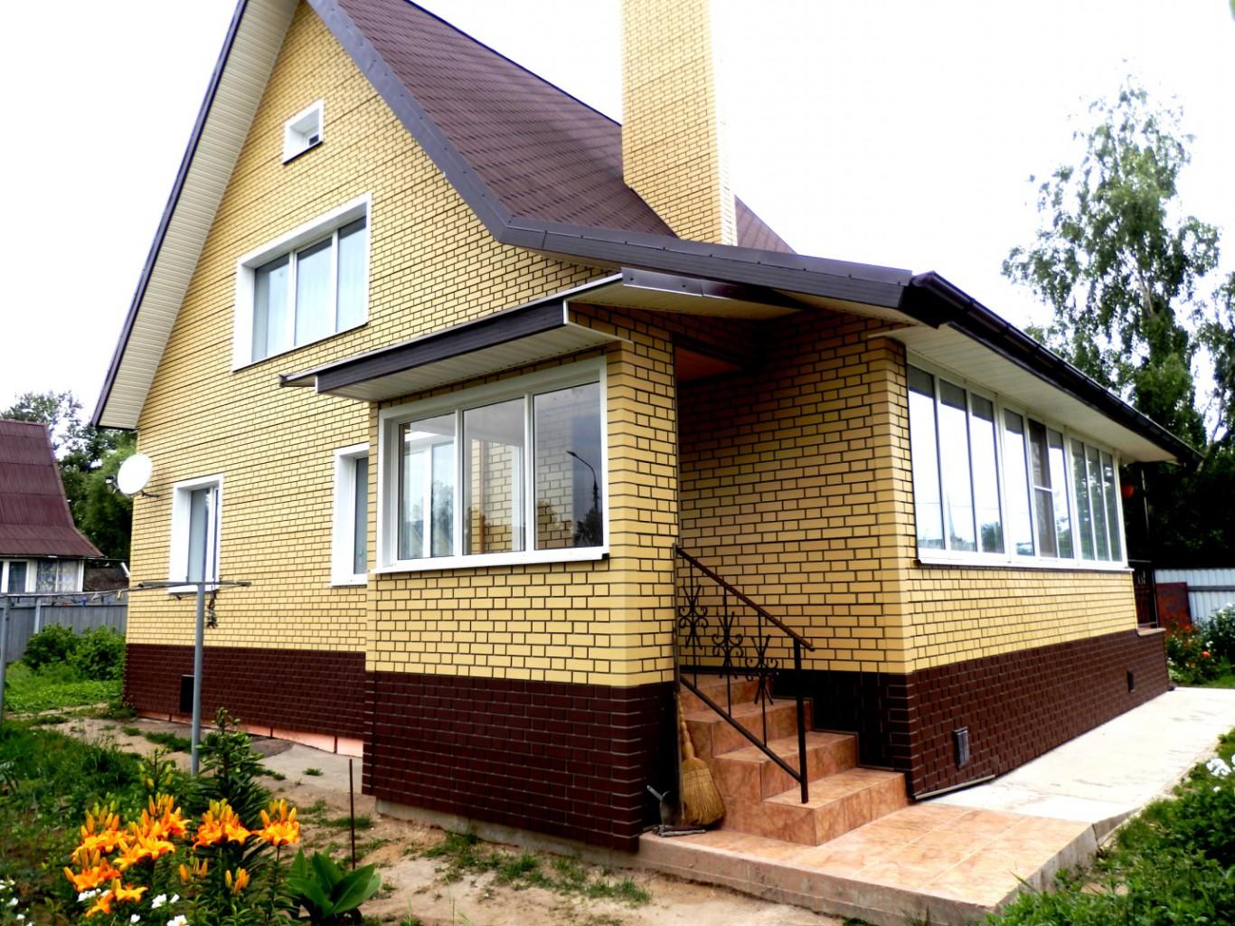 Фасадные панели из клинкерного кирпича с темным швом