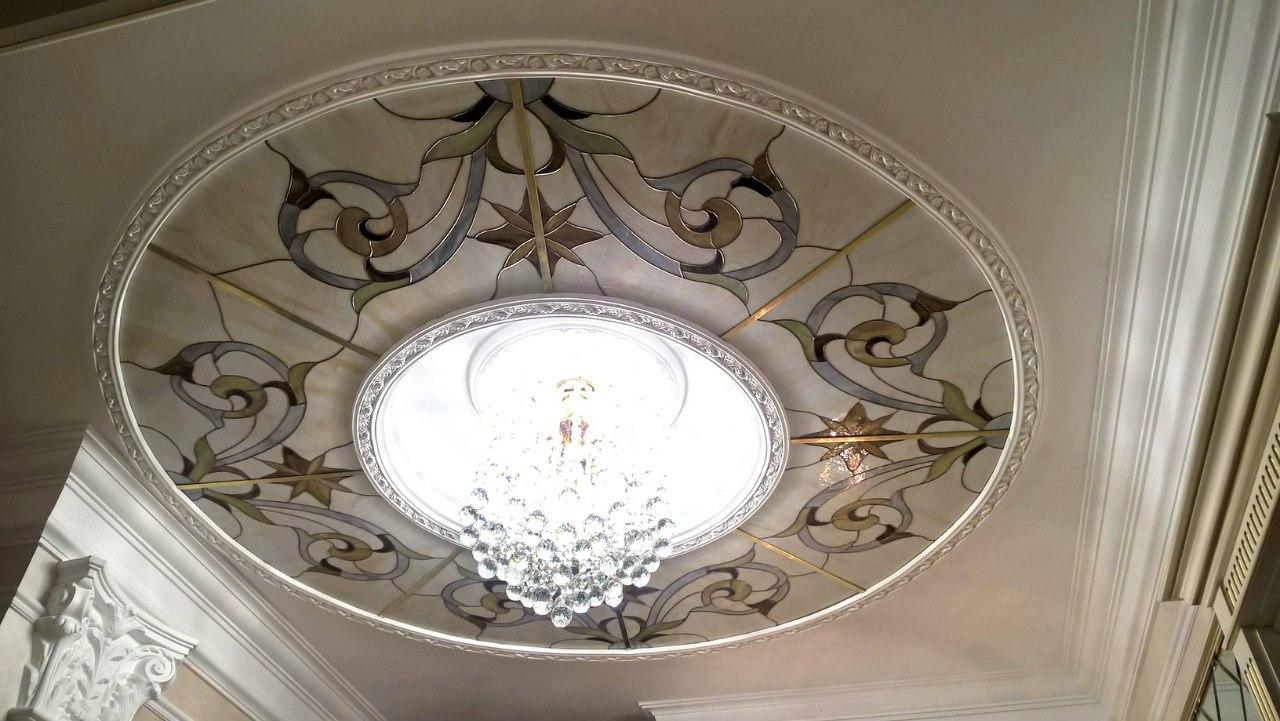 Витражный потолок в стиле Тиффани