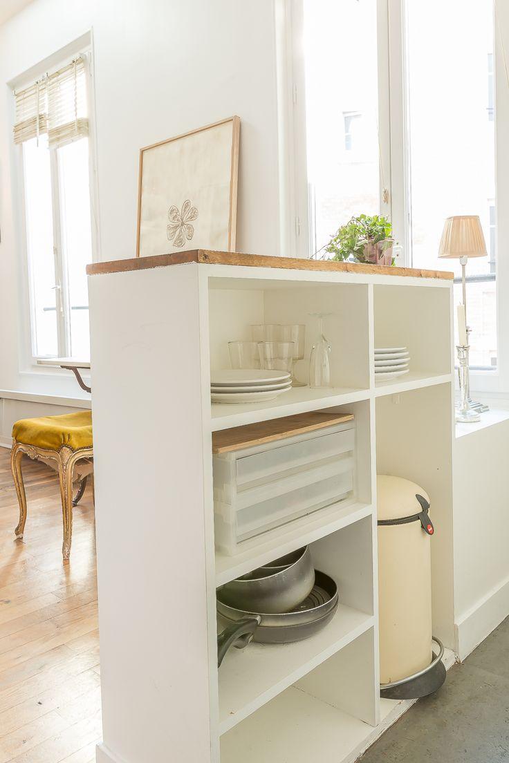 Перегородка тумба между кухней и гостиной