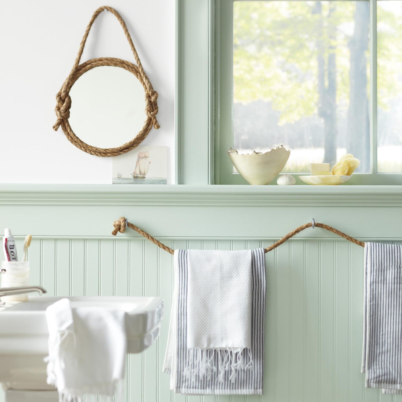Декоративный шпагат в ванной