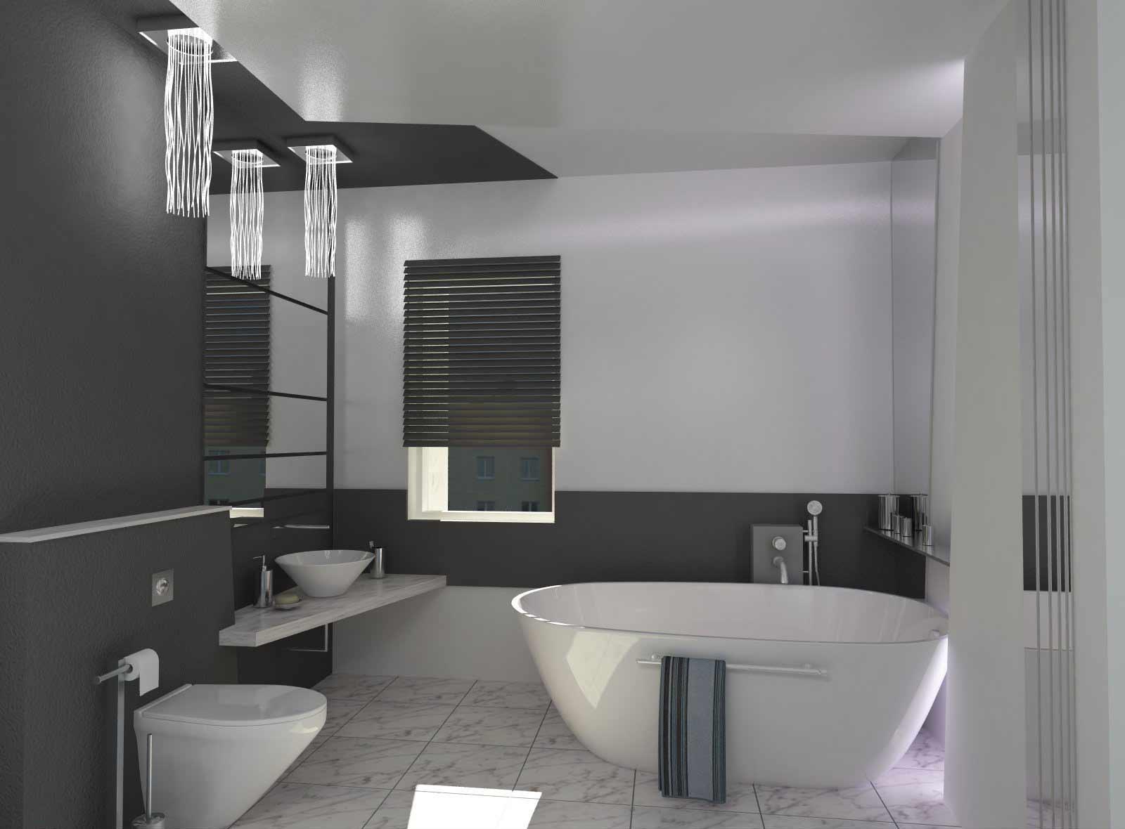 Ванная в конструктивистском стиле