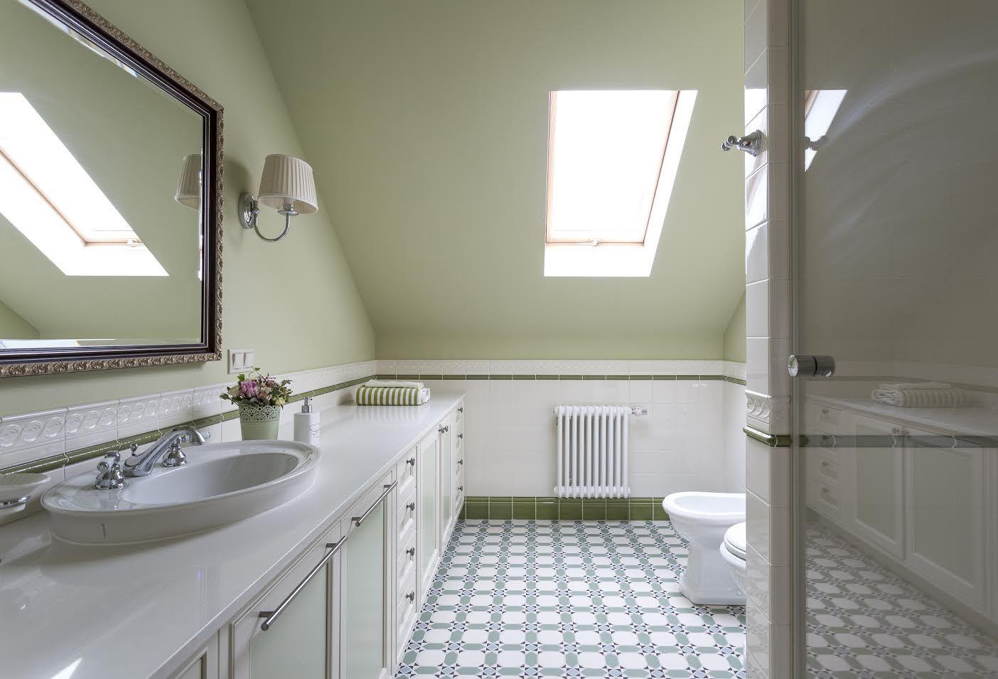 Метлахская плитка в интерьере ванной