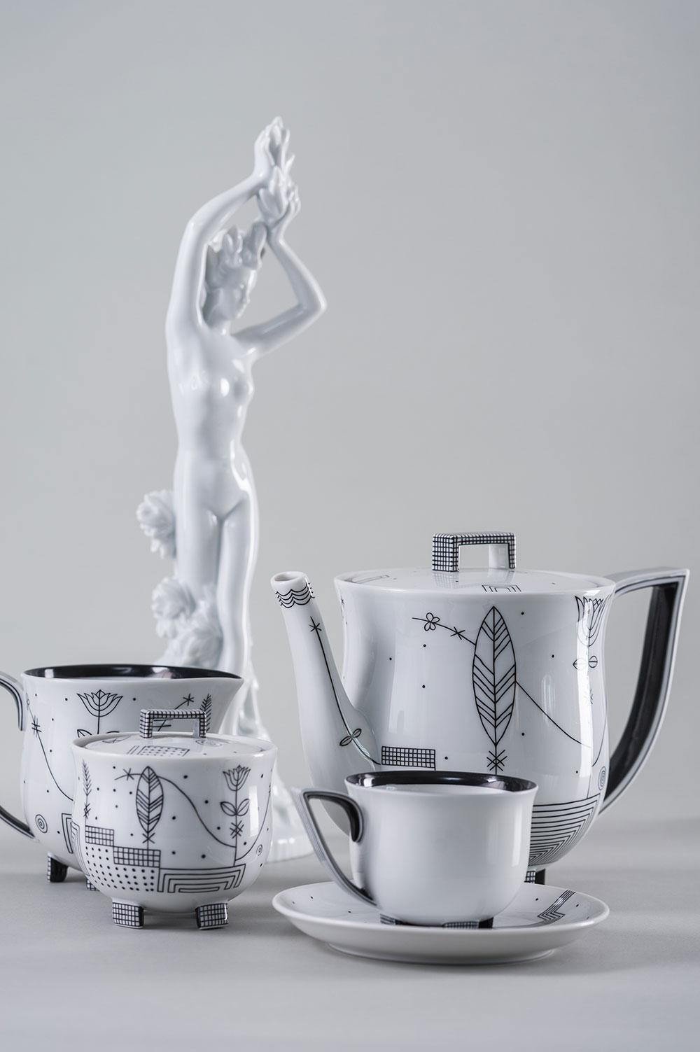 Чайный сервиз из венского фарфора
