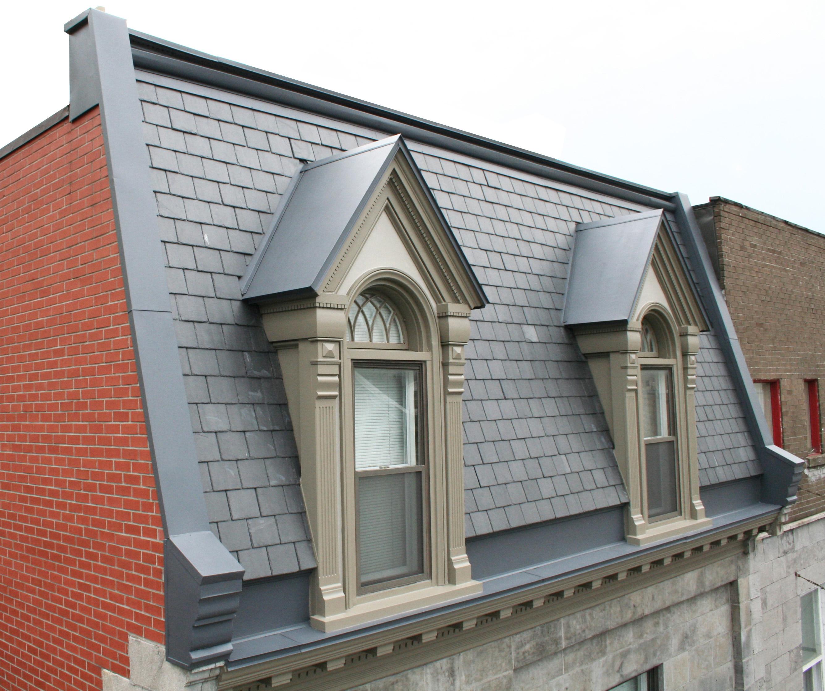 Крыша с мансардой в викторианском стиле