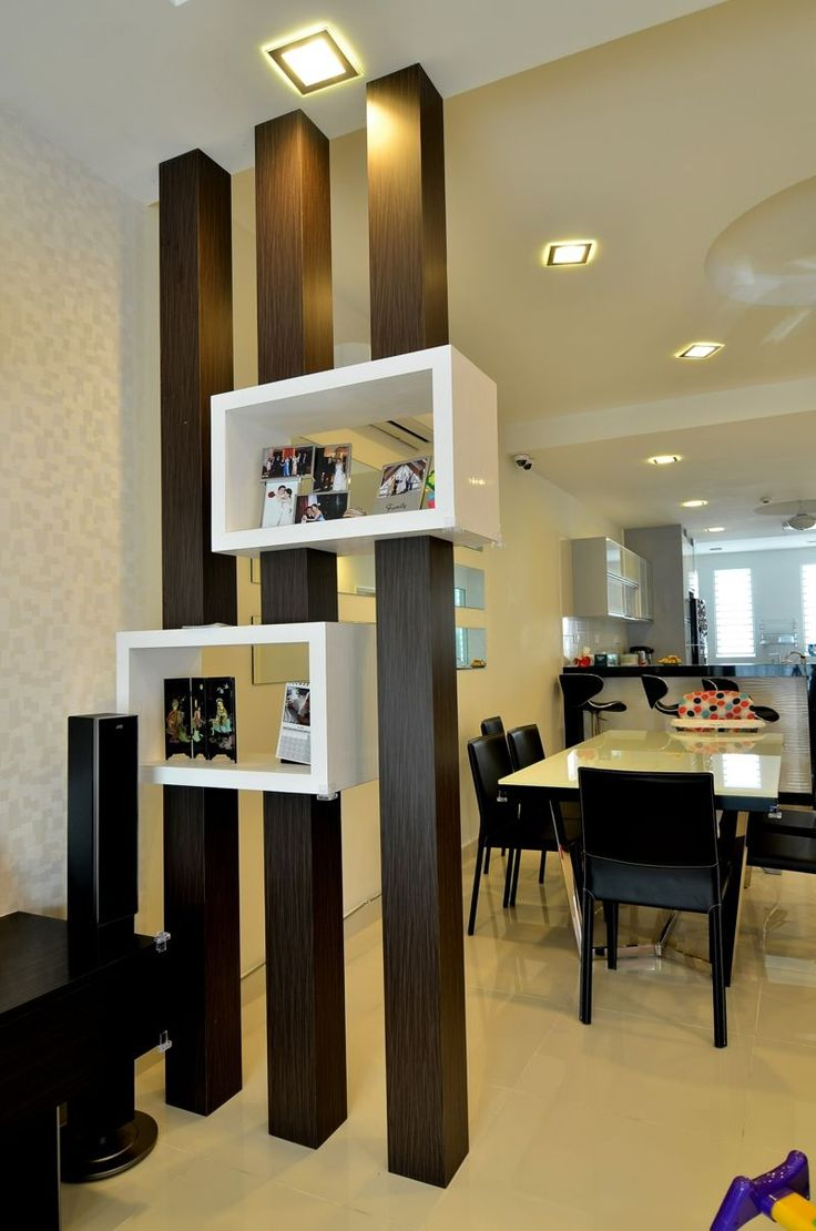 Перегородка между кухней и гостиной венге