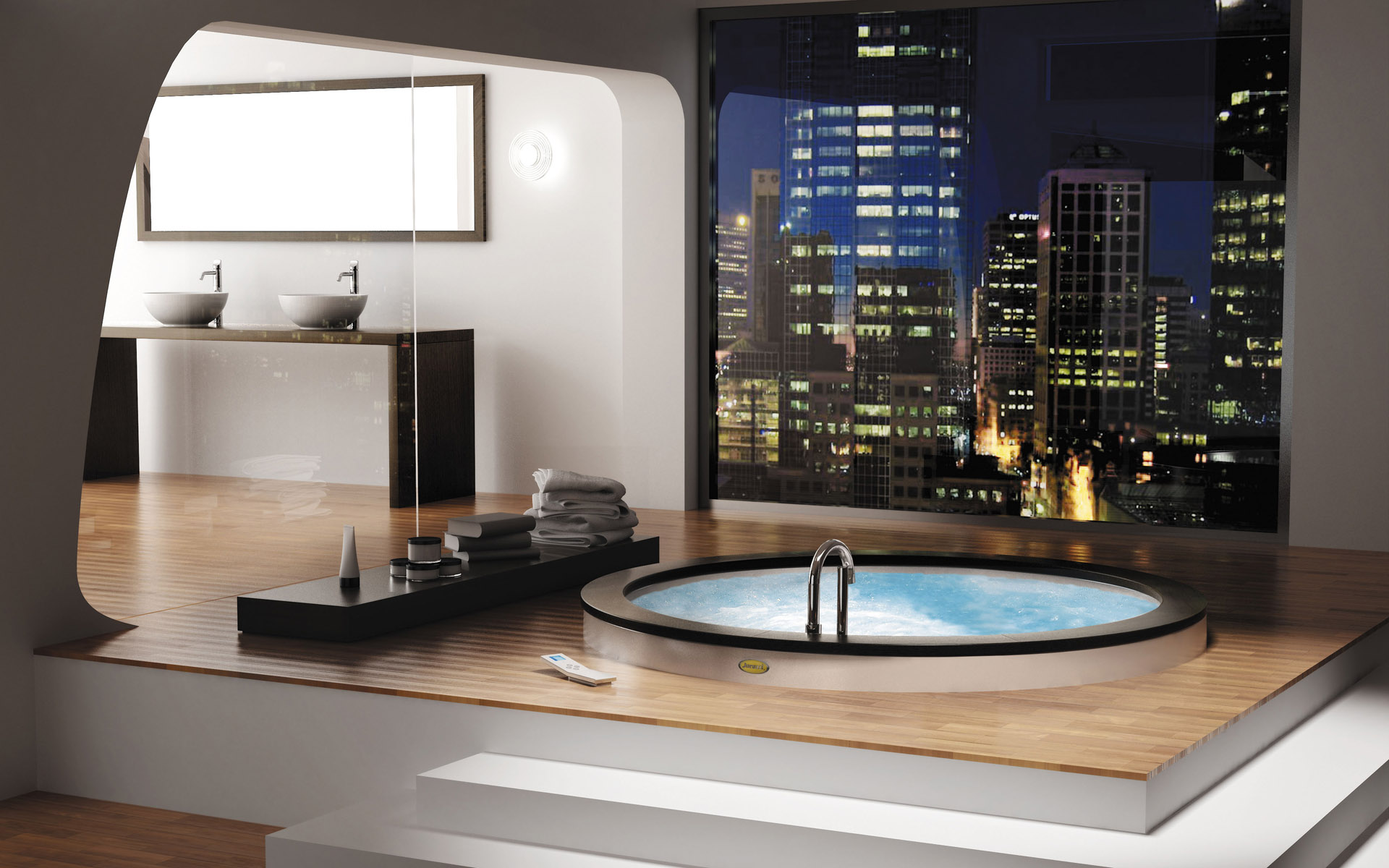 Круглая встроенная ванна