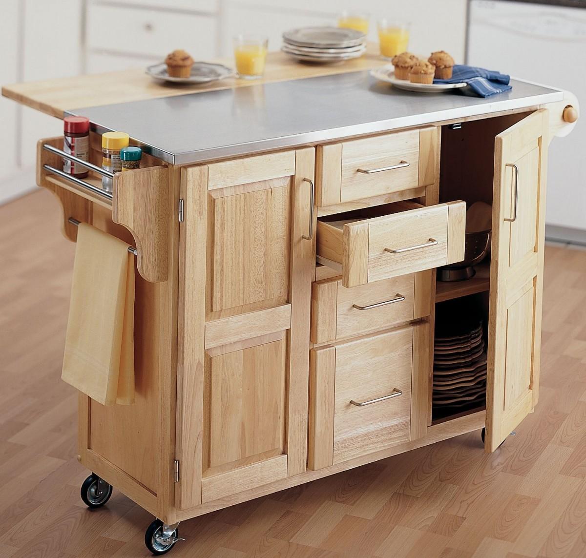 Сервировочный столик с ящиками