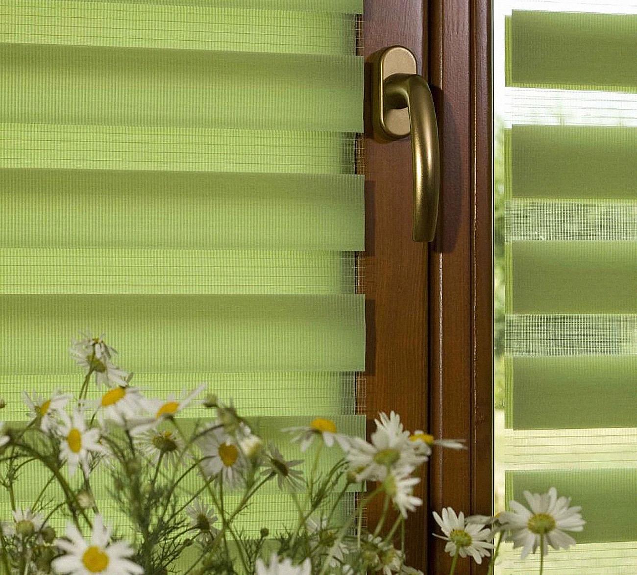 """Зеленые шторы """"день-ночь"""""""