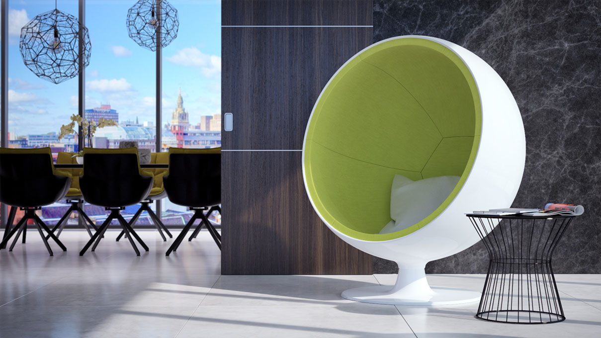 Кресло-шар зеленого цвета