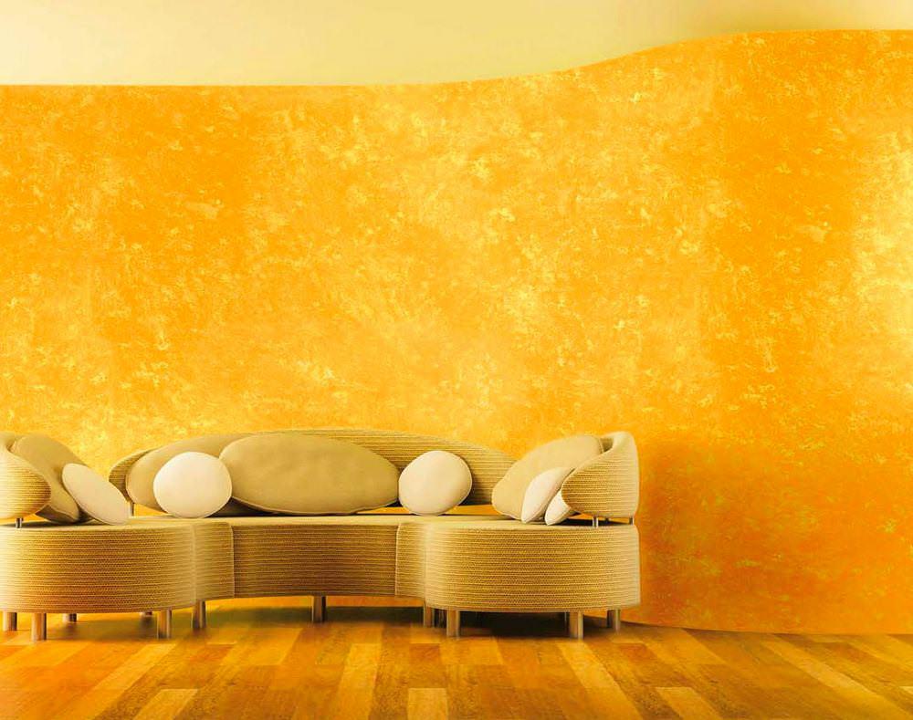 Акриловая штукатурка желтого цвета