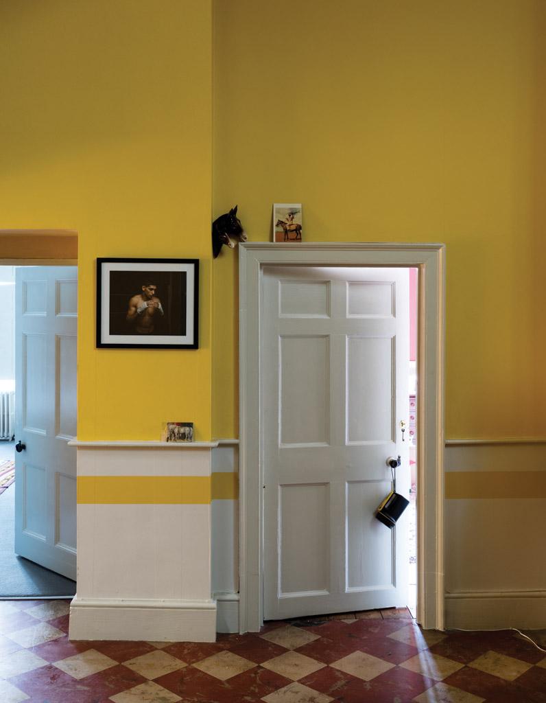 Стеновые панели для коридора желтые