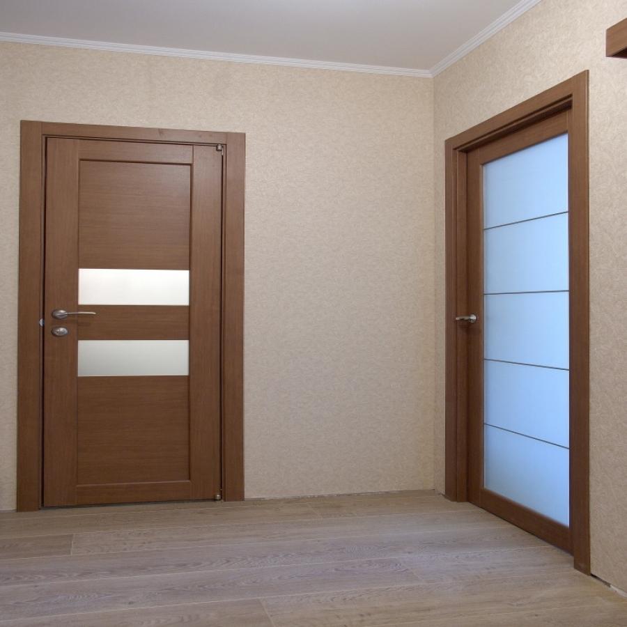 Двери цвета африканского ореха