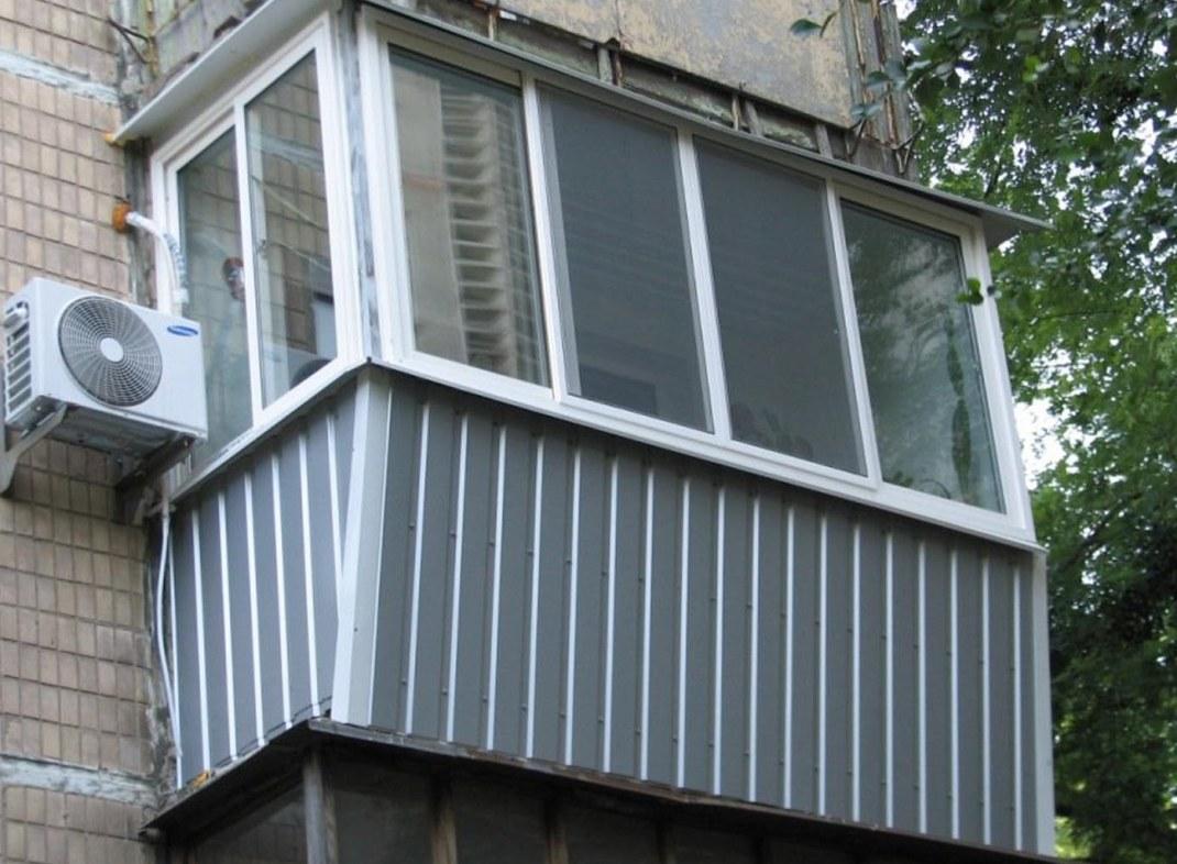 Отделка балкона алюминиевым сайдингом