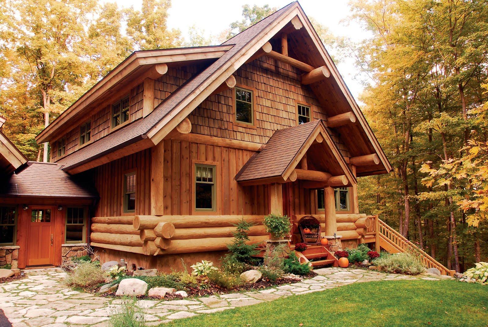Дом из бревна с баней