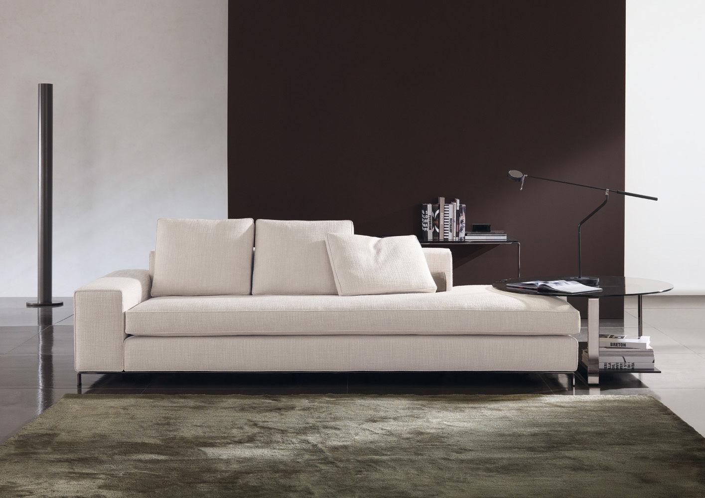 Белый диван без подлокотников