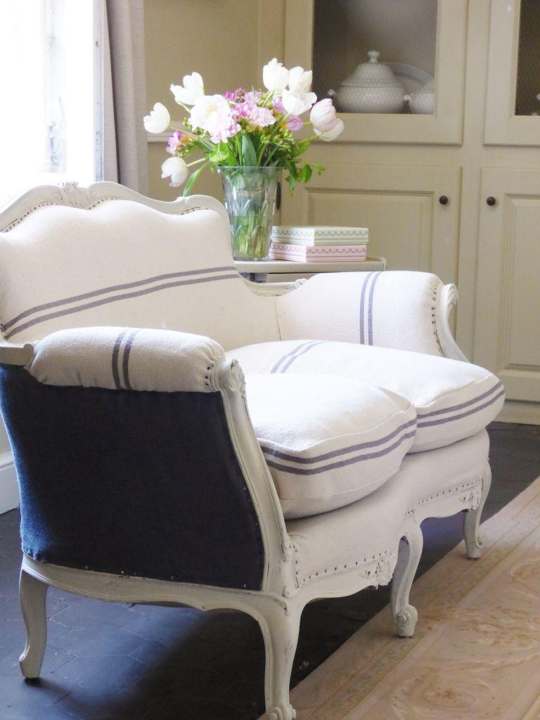 Белый французский диван