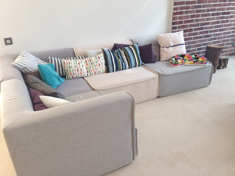 Блочный диван