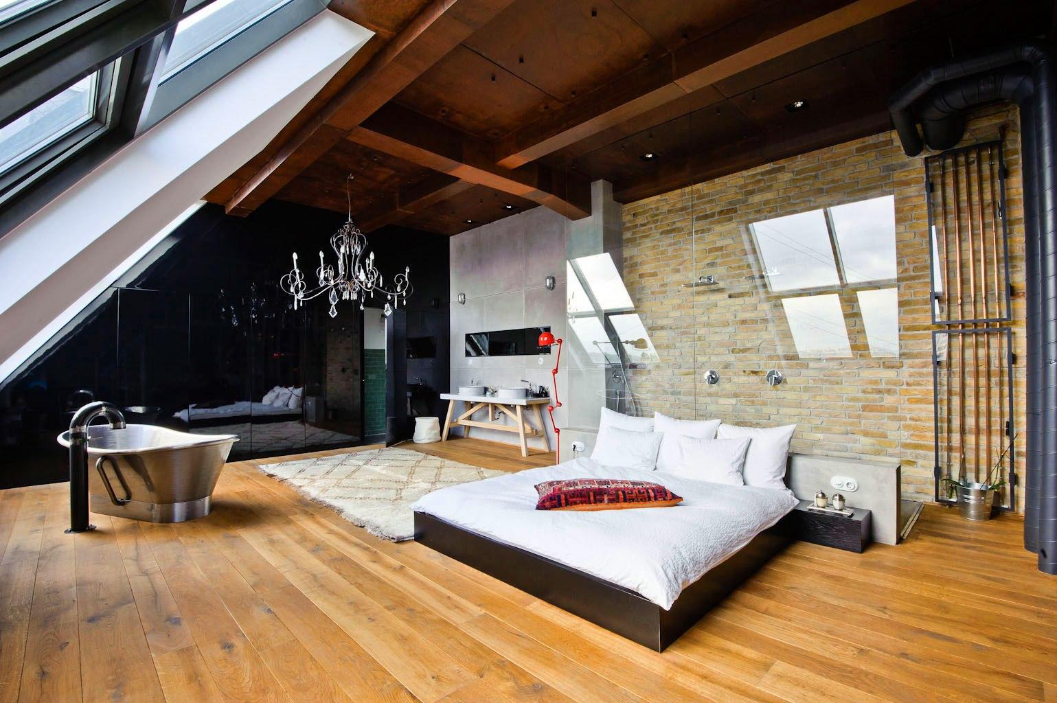 Спальня в стиле лофт: яркие идеи для дизайна (25 фото)