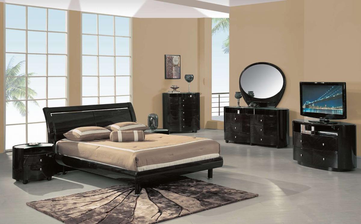 Черная спальня венге