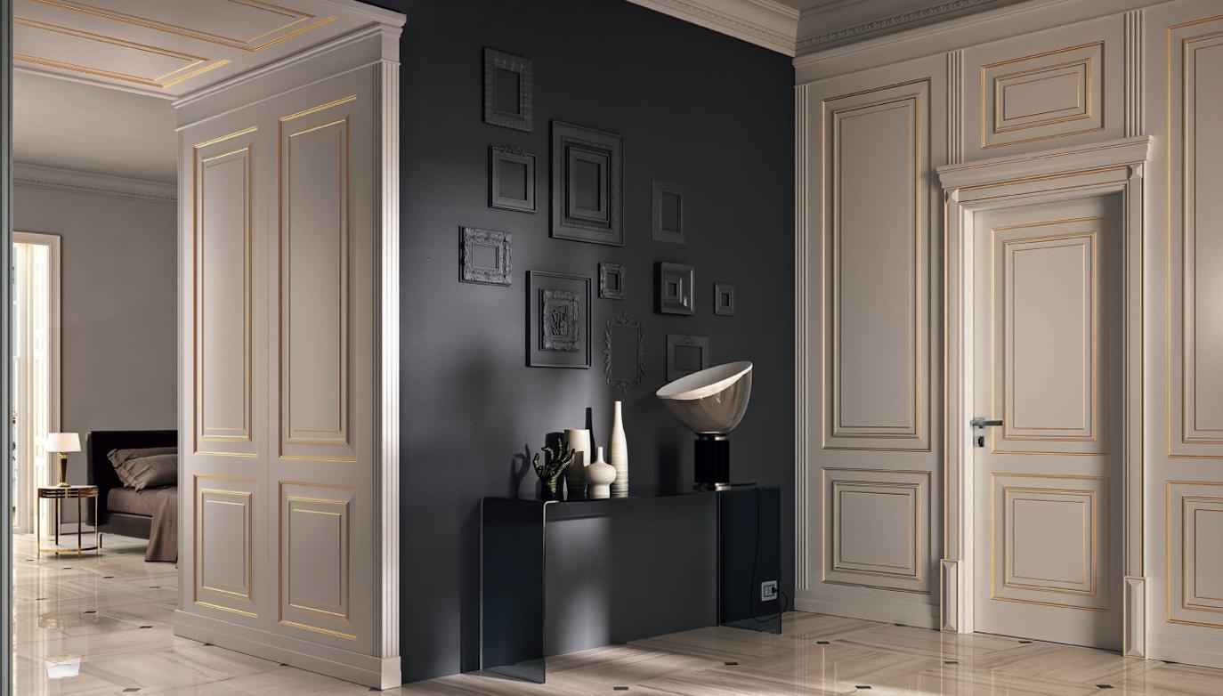 Межкомнатная дверь из дуба в классическом стиле