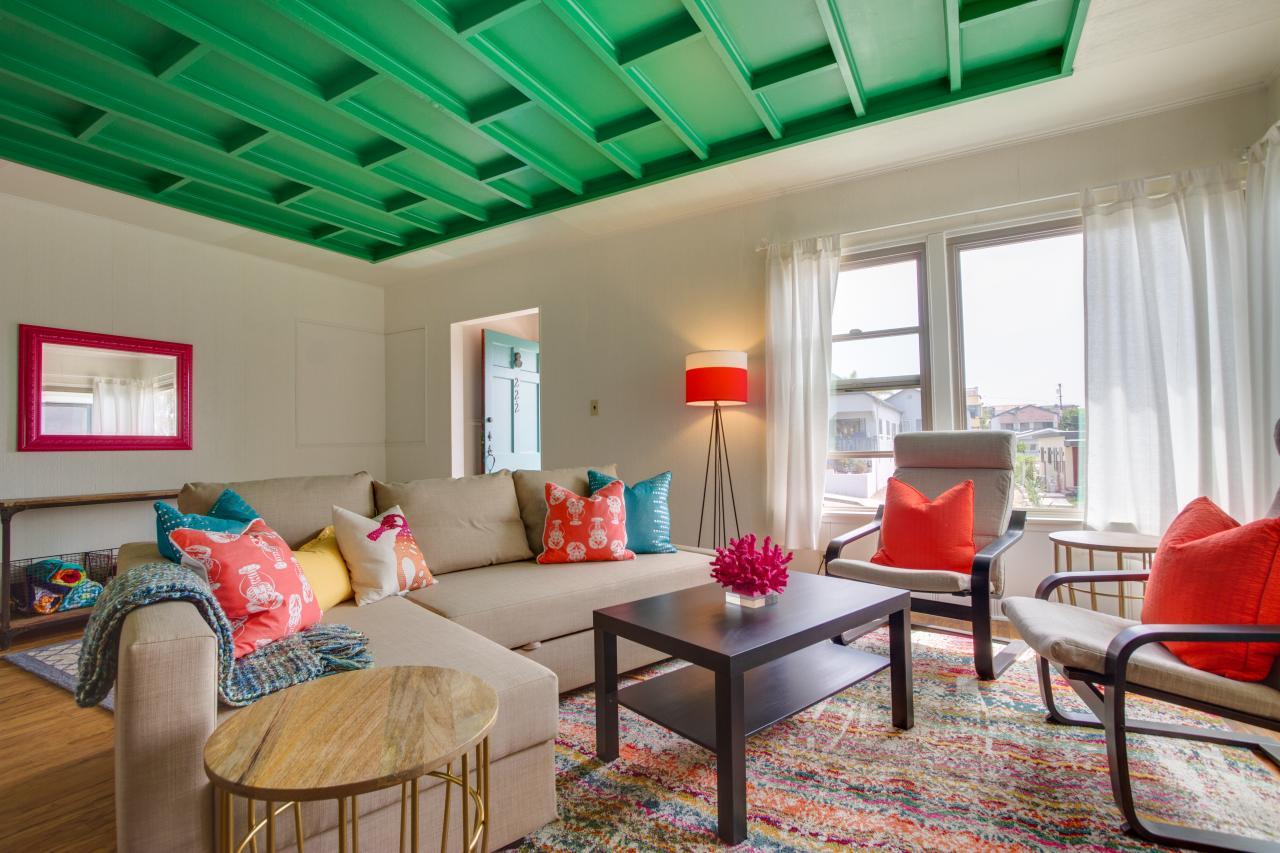 Декоративный зеленый потолок