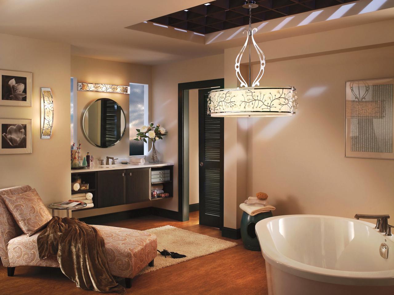 Декоративные светильники в ванной комнате