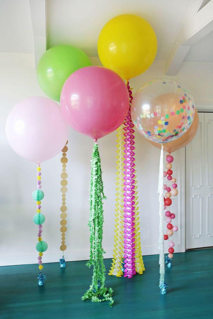 Воздушные шары на декоративной веревочке