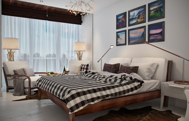 Реечная кровать из дерева