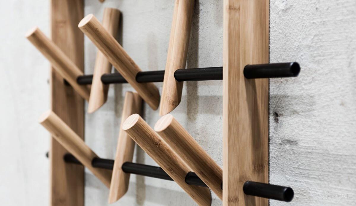 Деревянные крючки для ванной