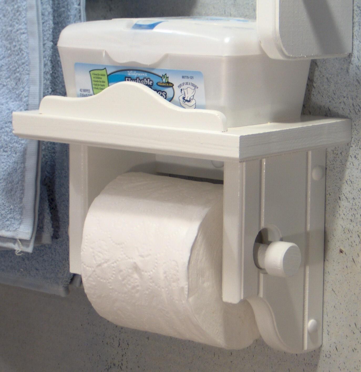 Держатель для туалетной бумаги из дерева