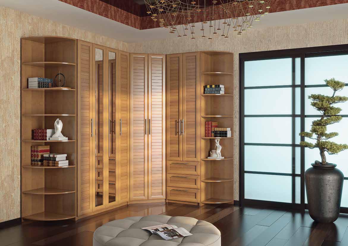 Деревянная стенка в гостиную