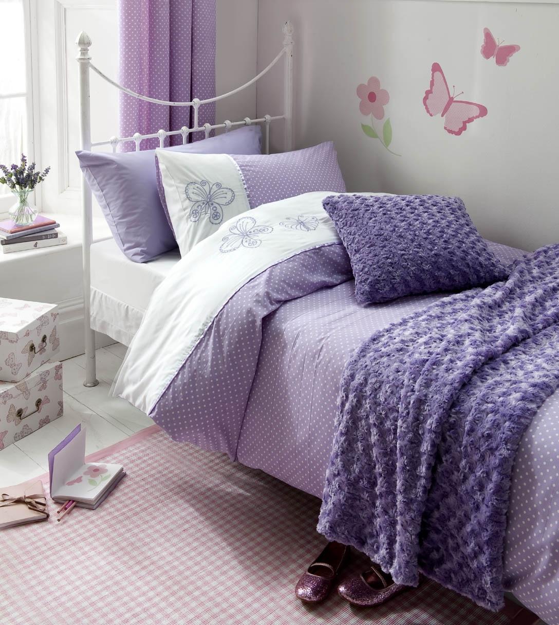 Сиреневая спальня для девочки