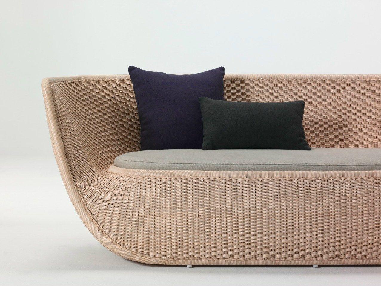 Дизайнерский диван из ротанга