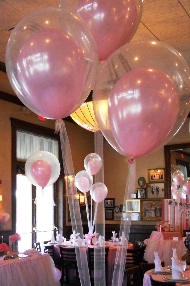 Оформление воздушными шарами праздника для девочки