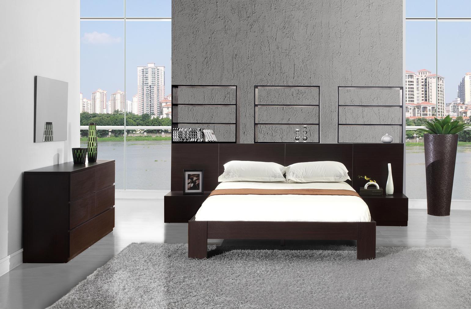 Спальня венге в интерьере дома