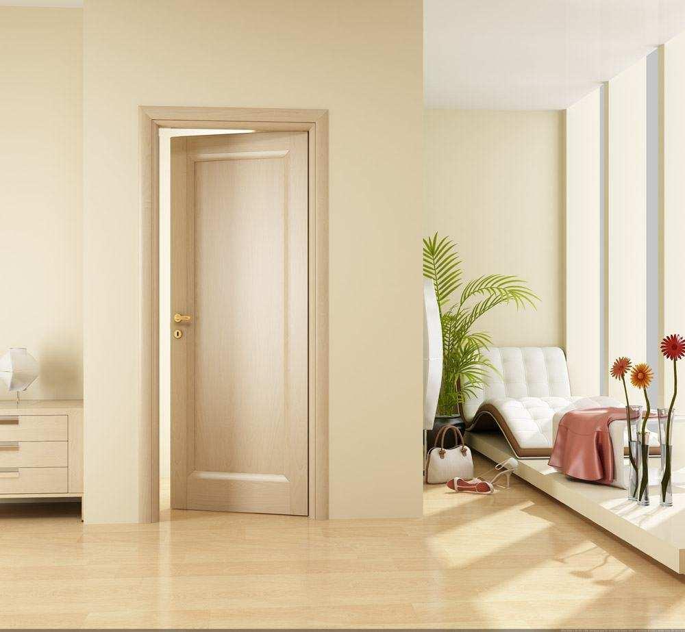 Дверь из экошпона в доме