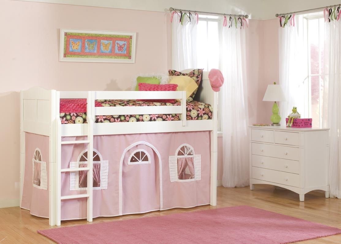 Кровать с домиком для девочки