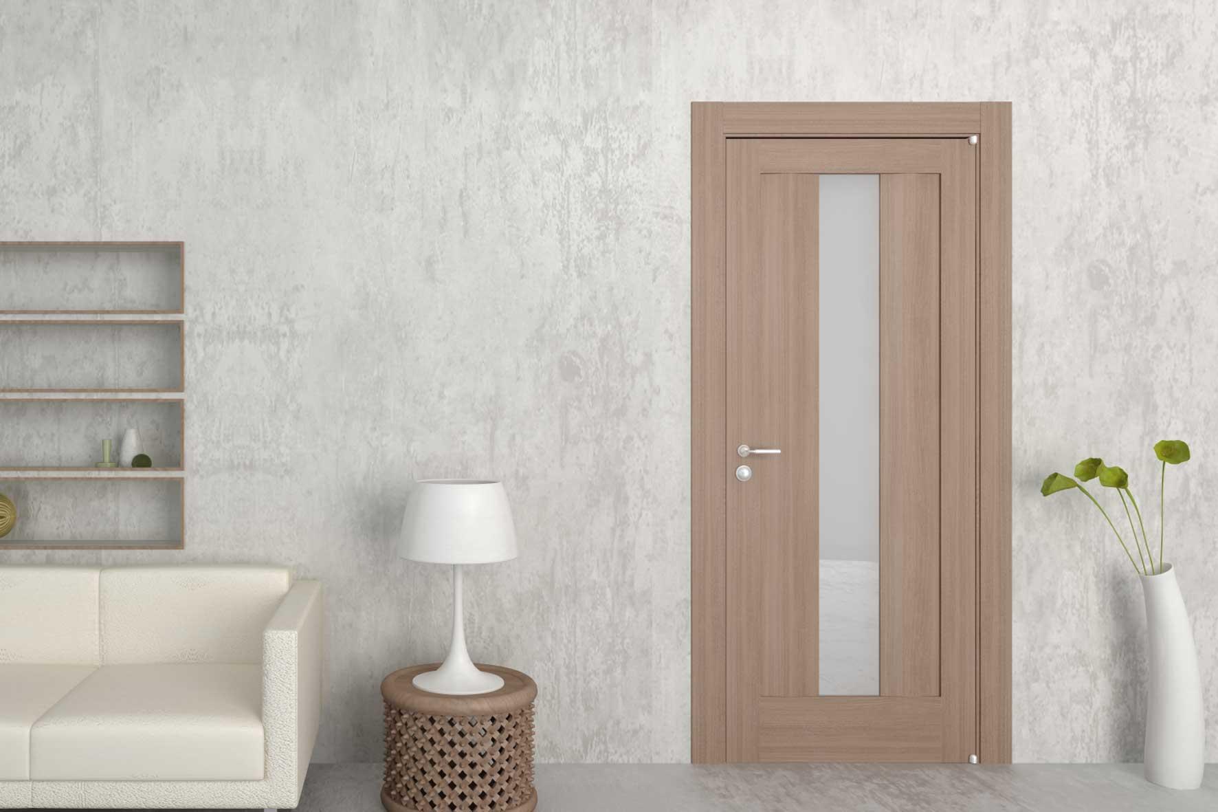 """Шпонированная дверь """"беленый дуб"""""""