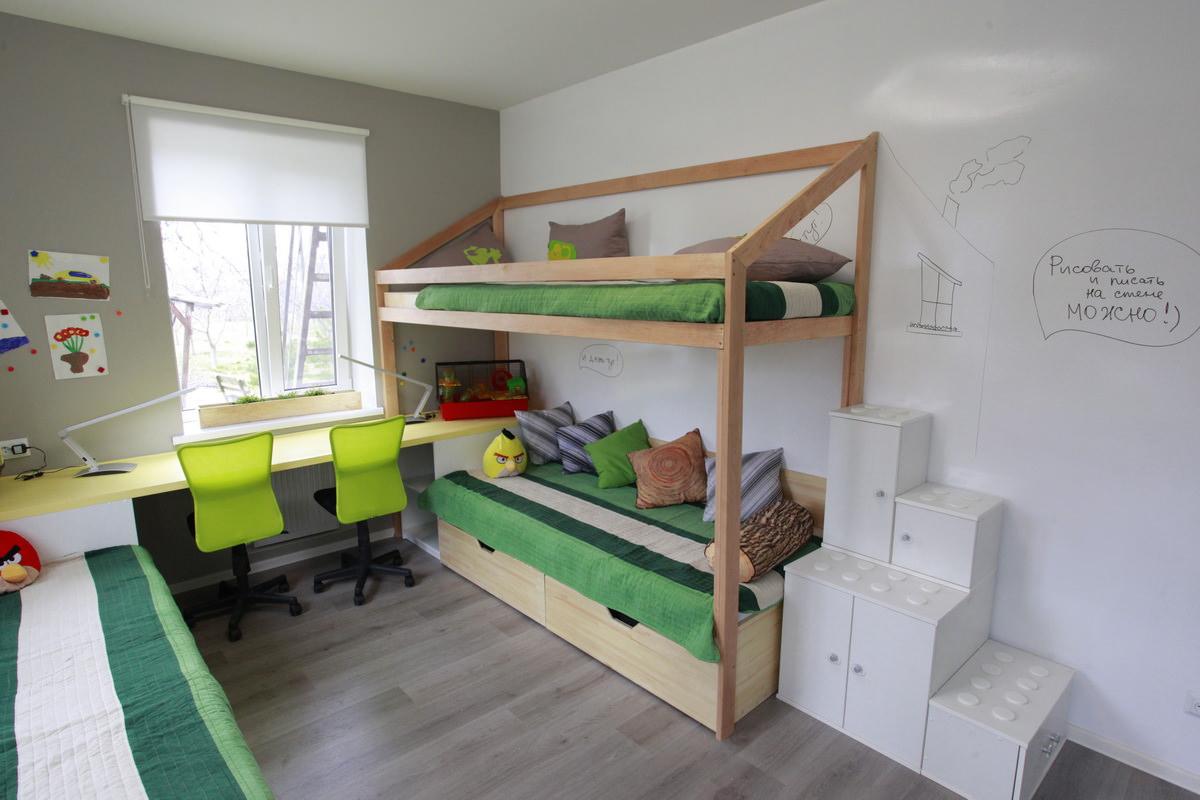 Двухэтажная кровать для мальчиков