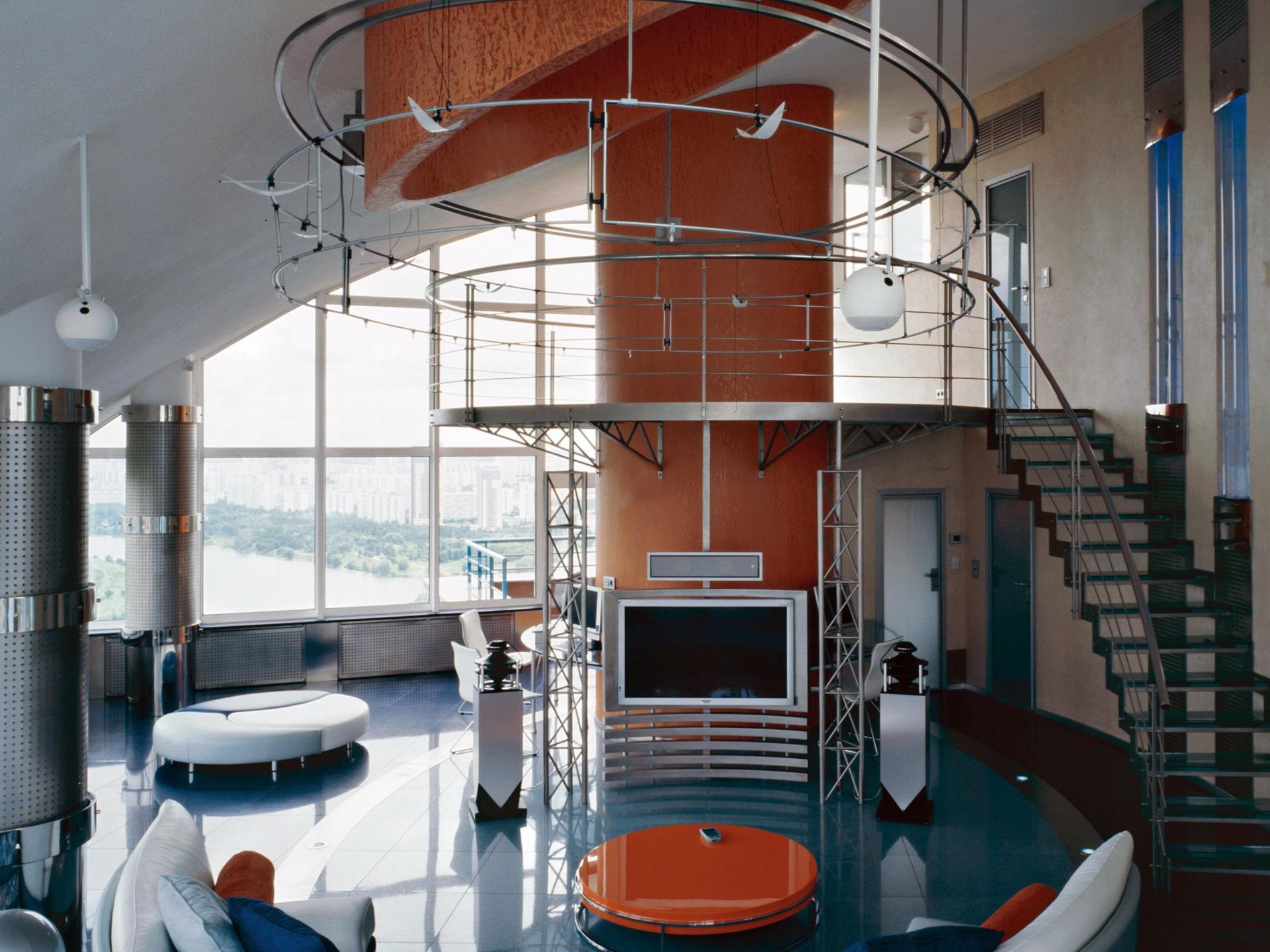 Двухуровневая квартира в стиле техно