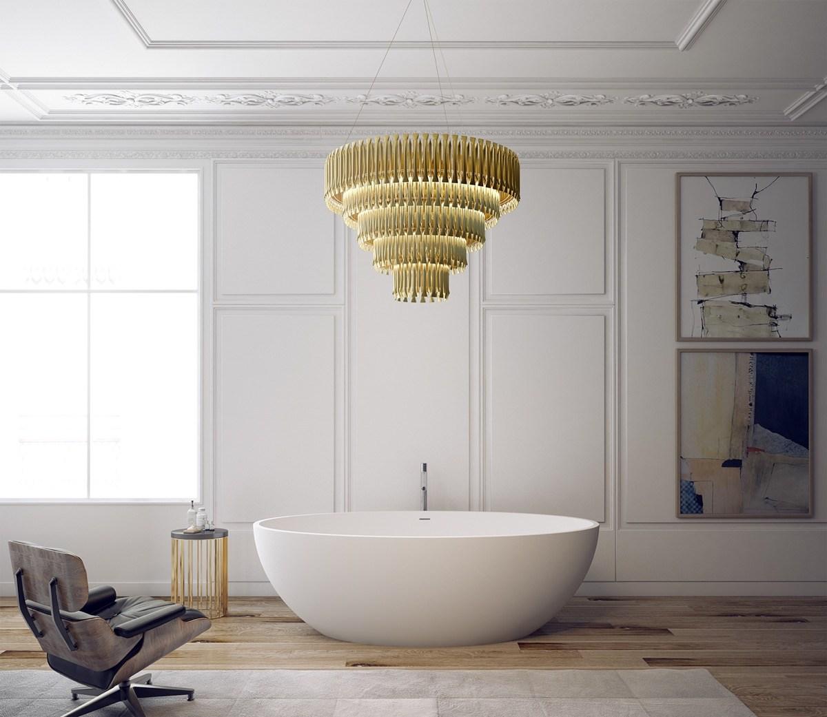 Овальная ванна в эклектичном стиле