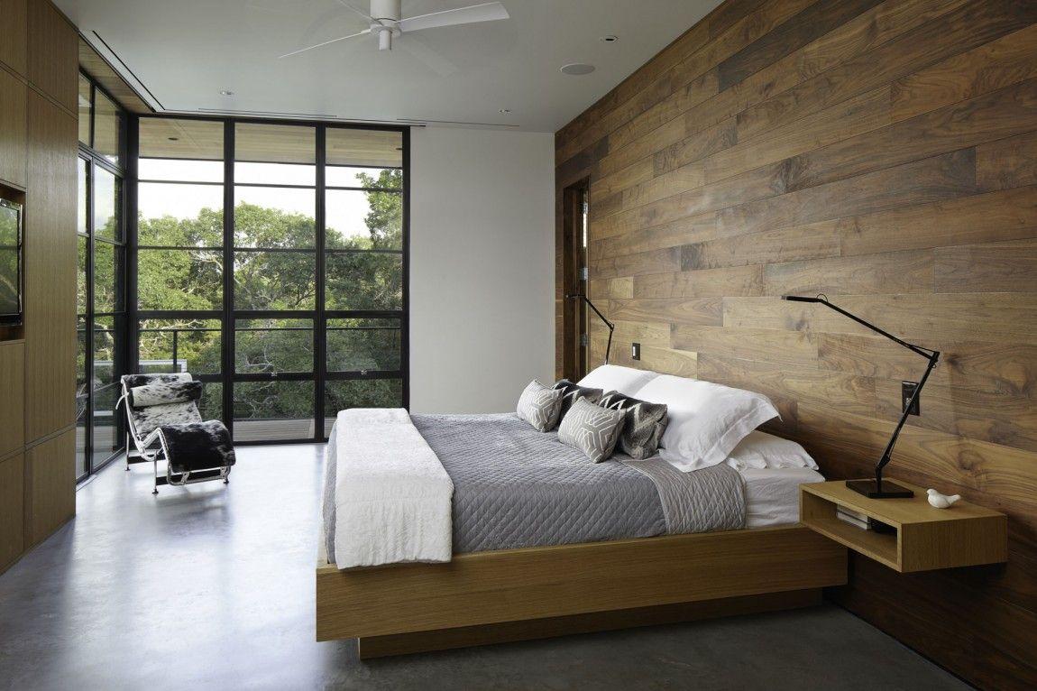 Реечная кровать в стиле эко