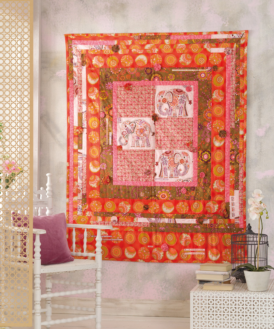 Картина из ткани в стиле этно
