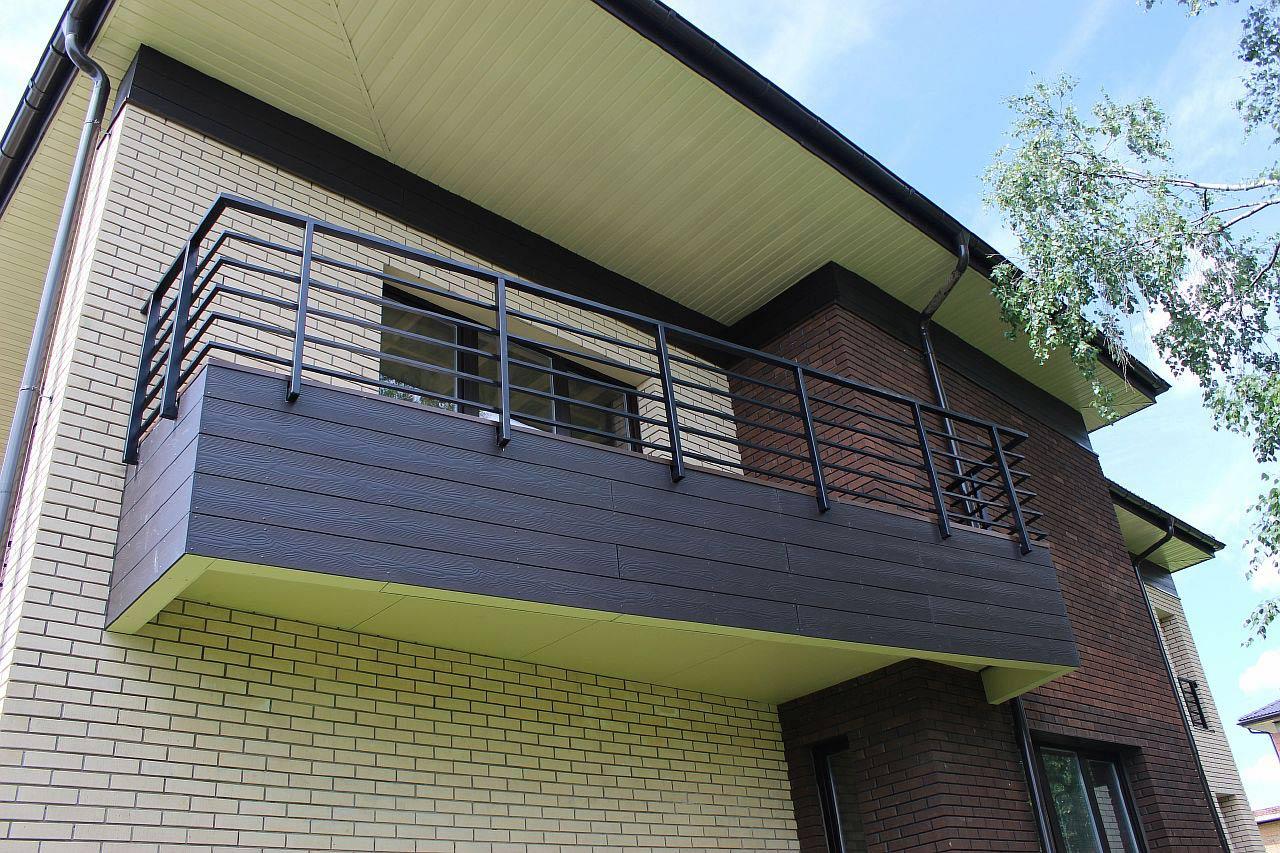 Отделка балкона фибро-цементным сайдингом