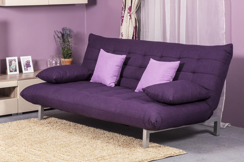 Фиолетовый диван без подлокотников