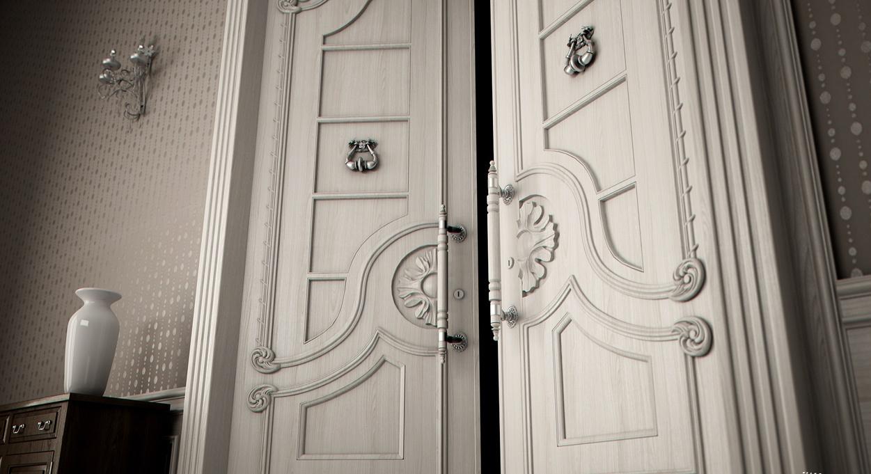 3D дверь с фрезировкой