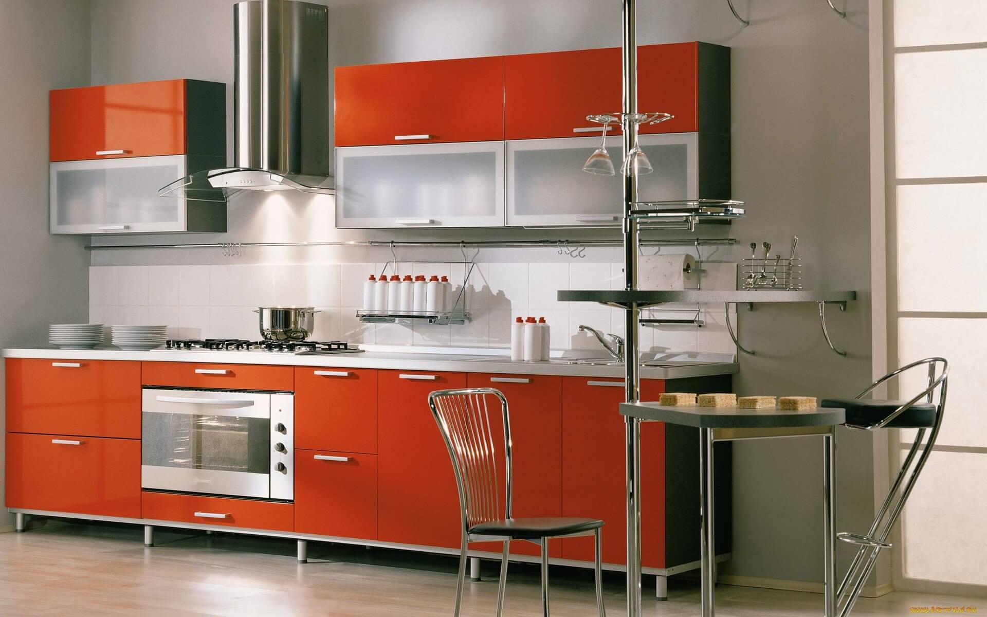 Терракотовый кухонный гарнитур