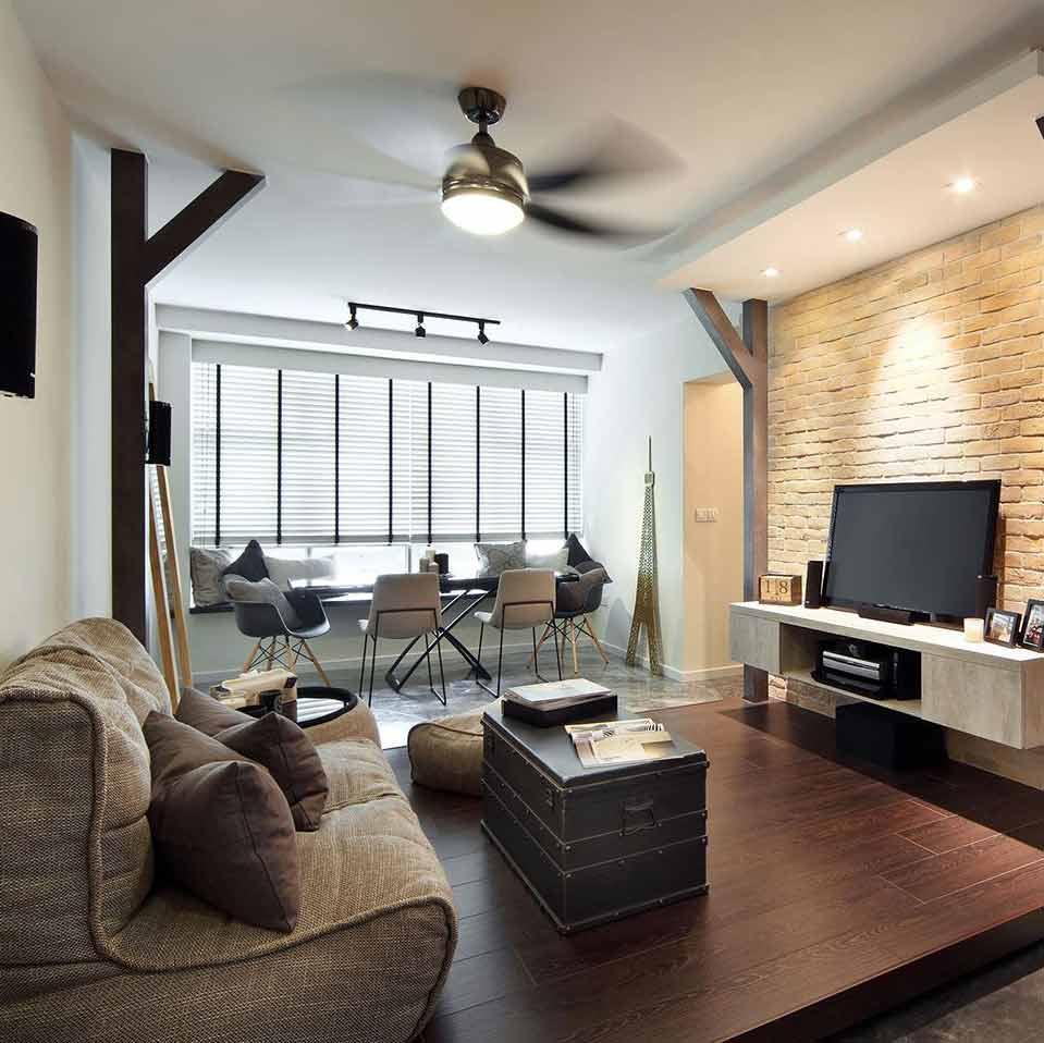 Бескаркасный диван в интерьере гостиной