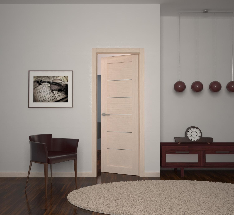 Дверь из ясеня в гостиной