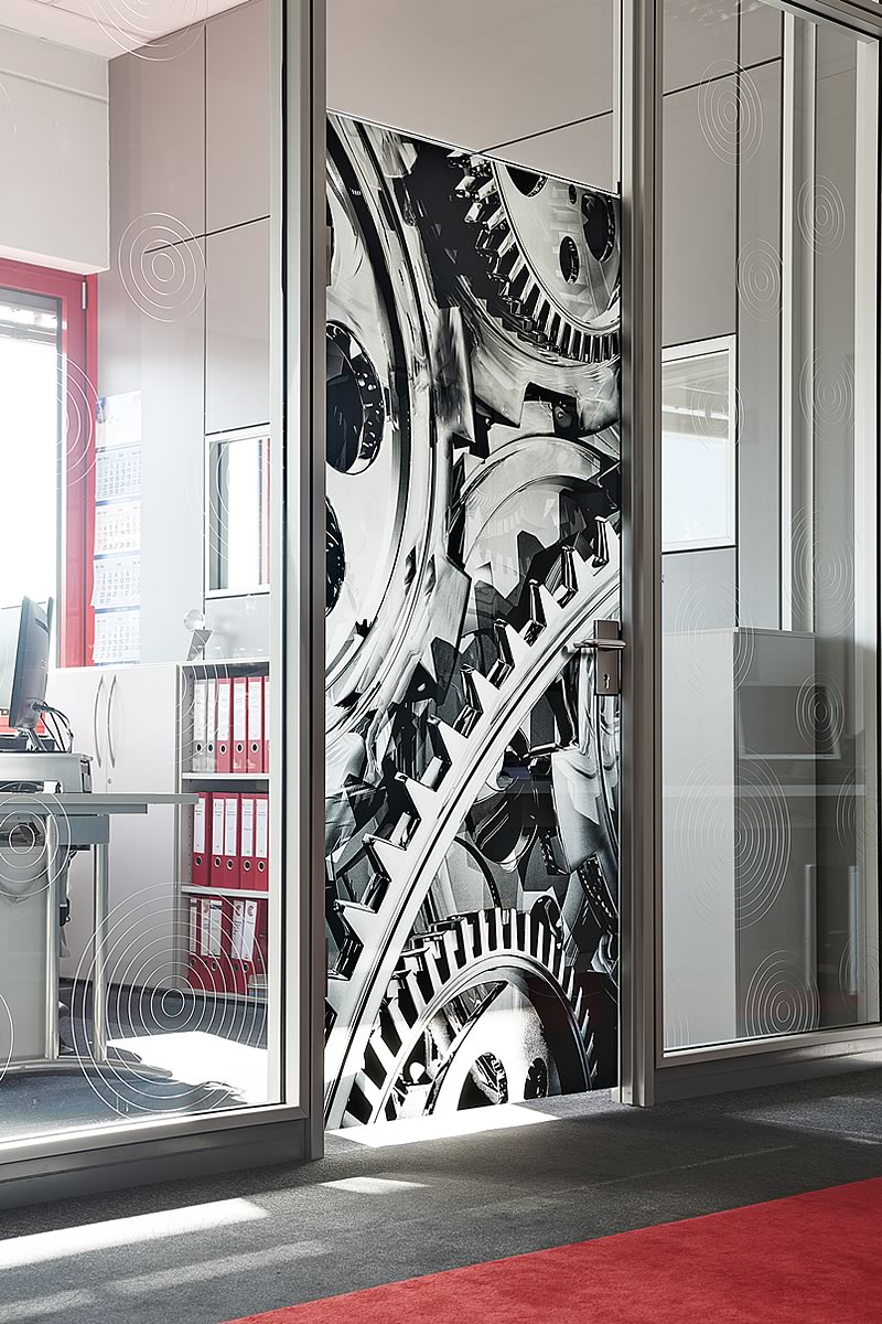 3D дверь в стиле хай-тек